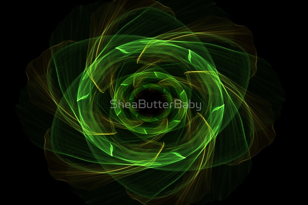 Green flower by SheaButterBaby