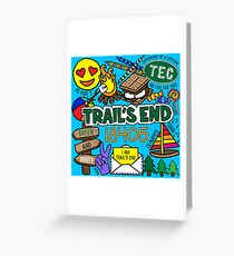Trail's End Camp Greeting Card