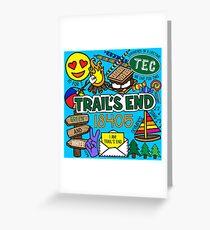 Trail's End Camp Grußkarte