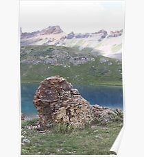 Boulder Outcropping at Upper Ice Lake Poster