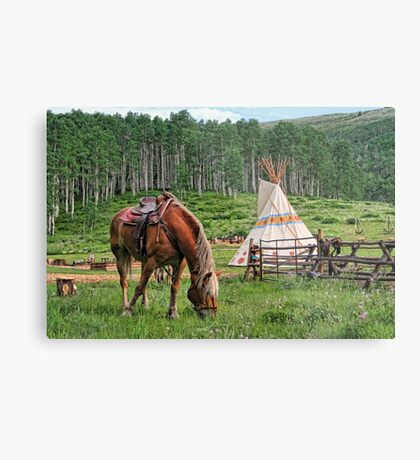 Grazing At The Outpost Metal Print