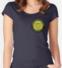 Jeffersonian logo-Bones Women's Fitted Scoop T-Shirt