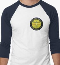 Jeffersonian logo-Bones Men's Baseball ¾ T-Shirt