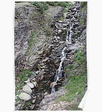 Epic Mountain Streaming Waterfall Poster
