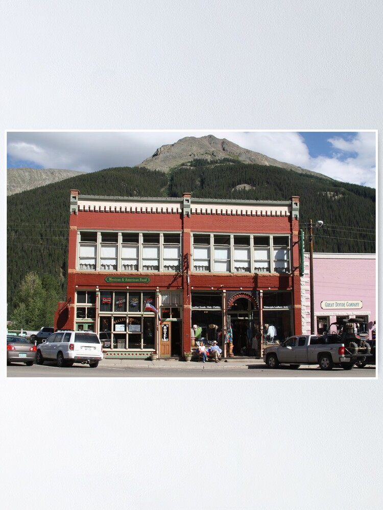 Alternate view of Old Teller House Hotel in Silverton Colorado Poster