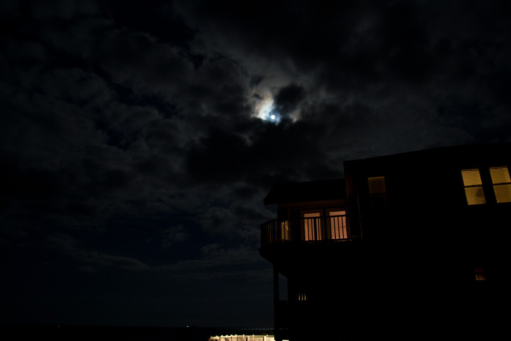 Moon over House by Dominic Perry