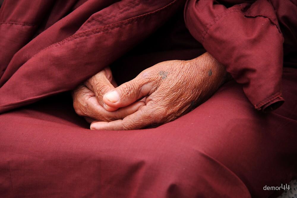 monks hands by demor44