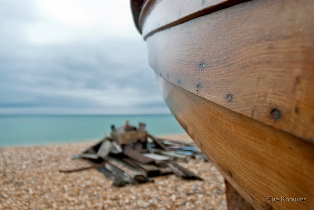 Wooden Boat by Sue Knowles