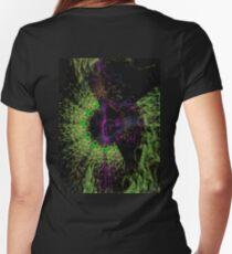 Green Nebula Women's Fitted V-Neck T-Shirt
