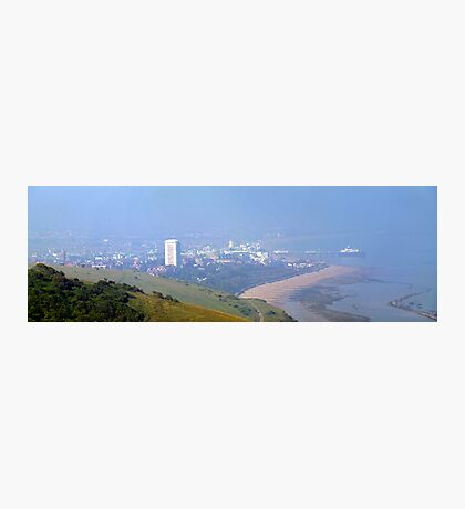 Eastbourne through the Haze Photographic Print