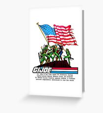 G.I. Joe 1982 - Stars and Stripes Forever Greeting Card