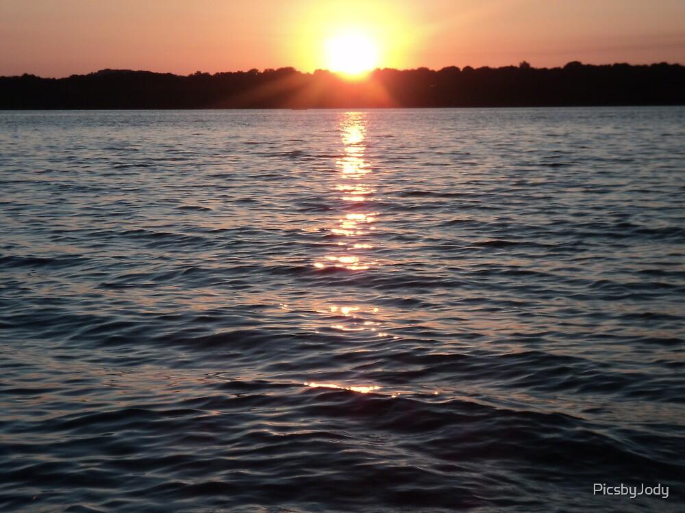 Sunset on the Lake by PicsbyJody