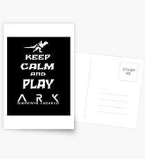 KEEP CALM AND PLAY ARK white Postcards