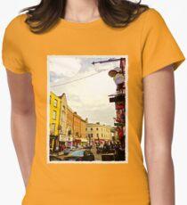 Cork City Street Scene 001  Women's Fitted T-Shirt