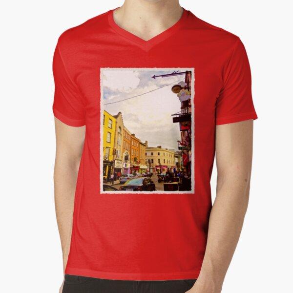 Cork City Street Scene 001  V-Neck T-Shirt