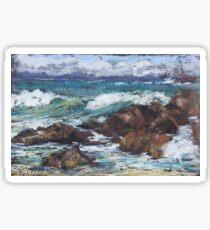 Flynns Beach rocks & surf  Sticker