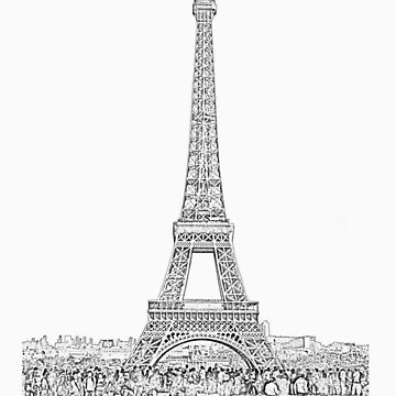 Eiffel tower by Adamsart