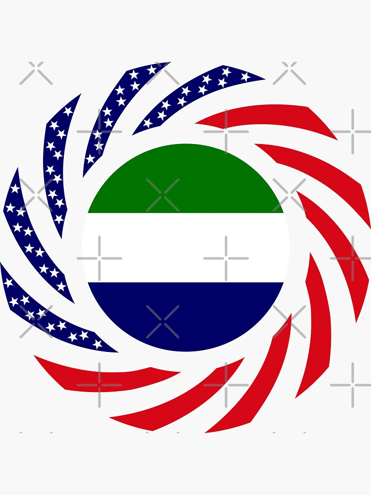 Sierra Leonean American Multinational Patriot Flag Series by carbonfibreme