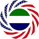 Sierra Leonean American Multinational Patriot Flag Series by Carbon-Fibre Media