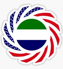 Sierra Leonean American Multinational Patriot Flag Series Sticker