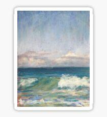 Flynns Beach clouds & waves Sticker