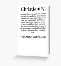 Christianity - cosmic jewish zombie Greeting Card