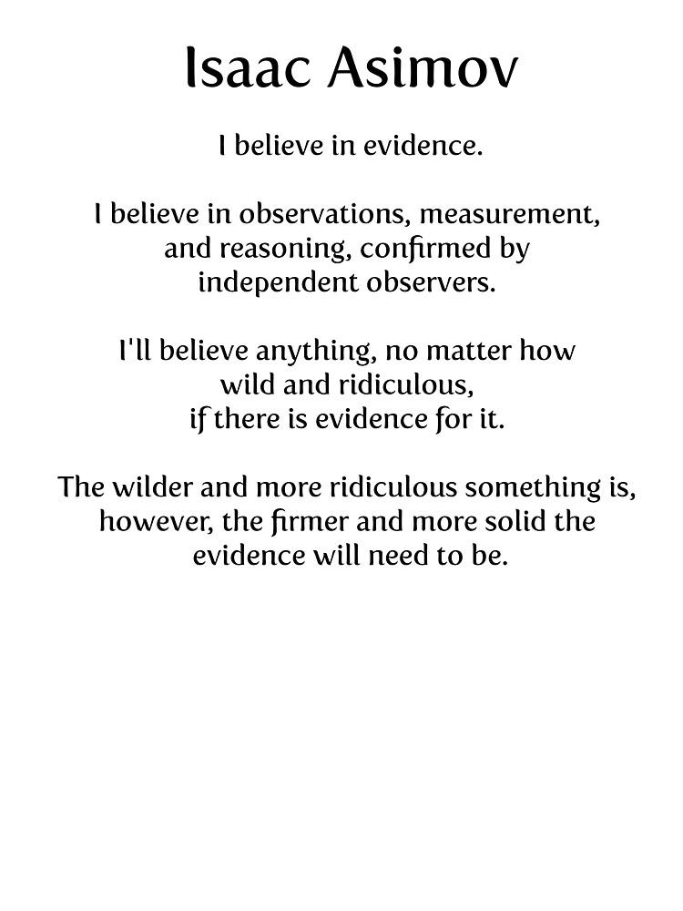 Isaac Asimov on Evidence by paulparkinson