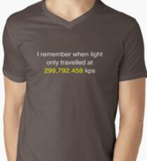 E=MC2  ?       Light Speed Tee (metric) Mens V-Neck T-Shirt