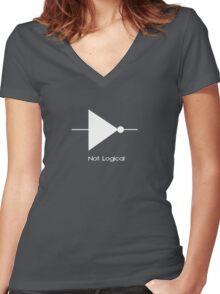 Not Logical  - T Shirt Women's Fitted V-Neck T-Shirt
