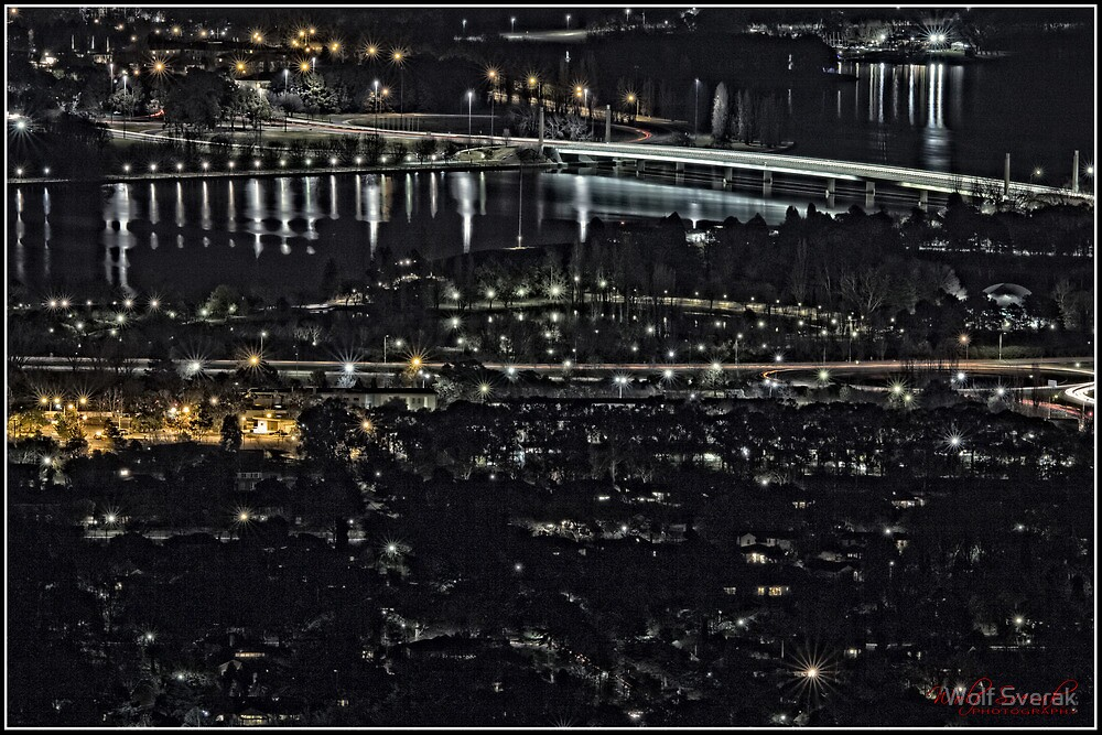 Canberra at Night - as seen from Mount Ainslie (6) by Wolf Sverak