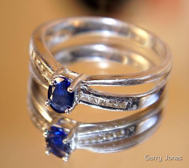Blue Gem Ring by Garry  Jones