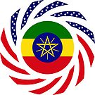 Ethiopian American Multinational Patriot Flag Series by Carbon-Fibre Media