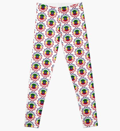 Ethiopian American Multinational Patriot Flag Series Leggings