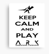 KEEP CALM AND PLAY ARK black 2 Canvas Print