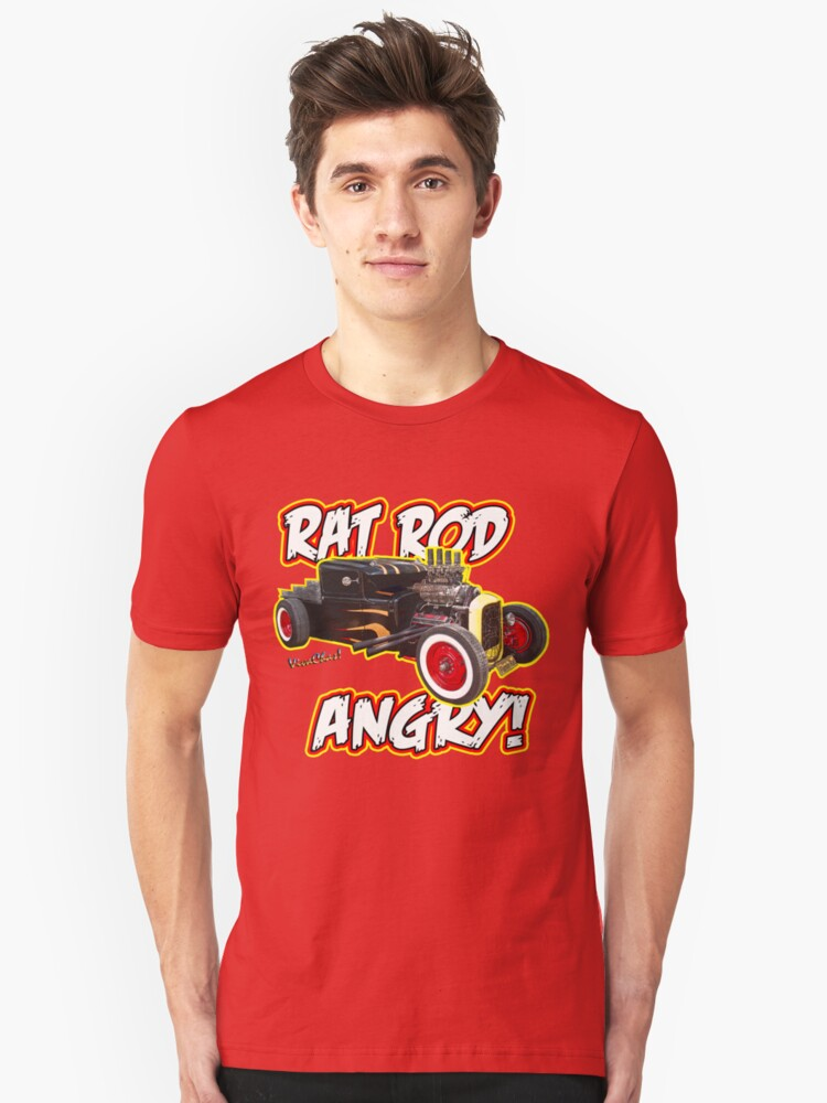 Rat Rod Angry Unisex T-Shirt Front