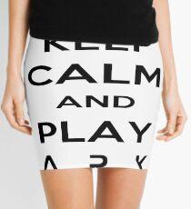 KEEP CALM AND PLAY ARK black 2 Mini Skirt