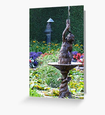 Pan's  fountain Greeting Card