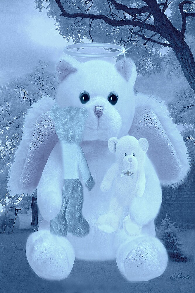 ❀◕‿◕❀HUGS,A KISS AND AFFECTION FROM A BEARY SPECIAL ANGEL CARD/PICTURE VERSION TWO❀◕‿◕❀ by ✿✿ Bonita ✿✿ ђєℓℓσ