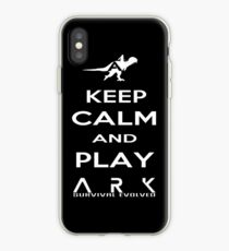 KEEP CALM AND PLAY ARK white 2 iPhone Case