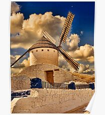 Spanish windmill Poster