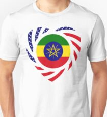 Ethiopian American Multinational Patriot Flag Series 2.0 Slim Fit T-Shirt