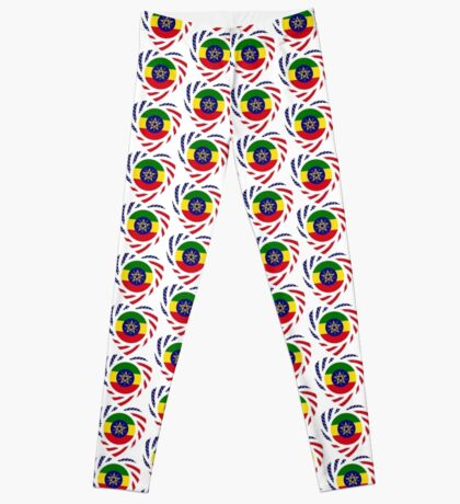 Ethiopian American Multinational Patriot Flag Series 2.0 Leggings