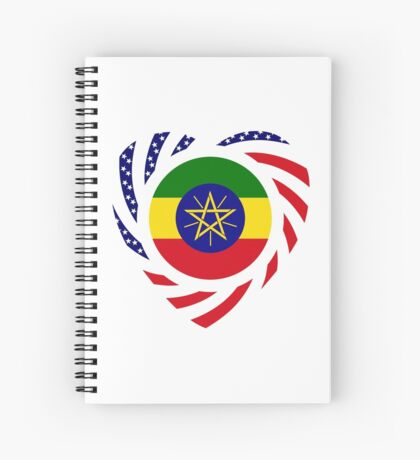 Ethiopian American Multinational Patriot Flag Series 2.0 Spiral Notebook
