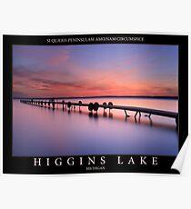 Sunset on Higgins Lake Poster