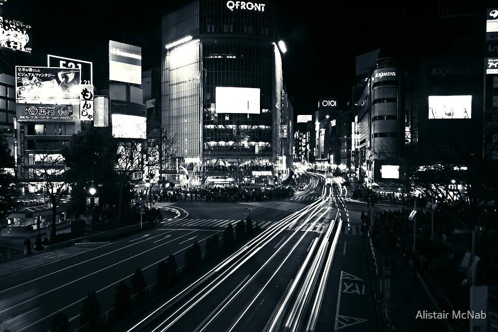 Shibuya Black and White by Alistair McNab