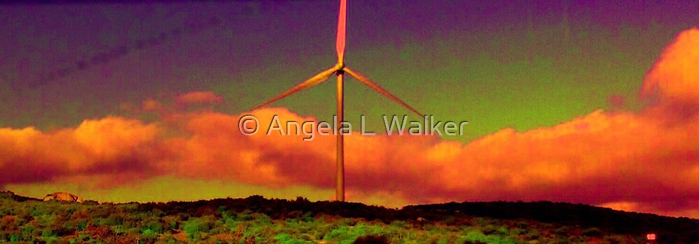 A Western Windmill by © Angela L Walker