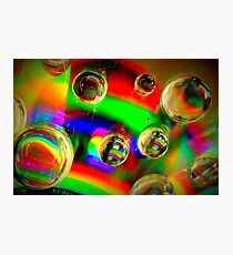 Vibrant Bubbles Photographic Print