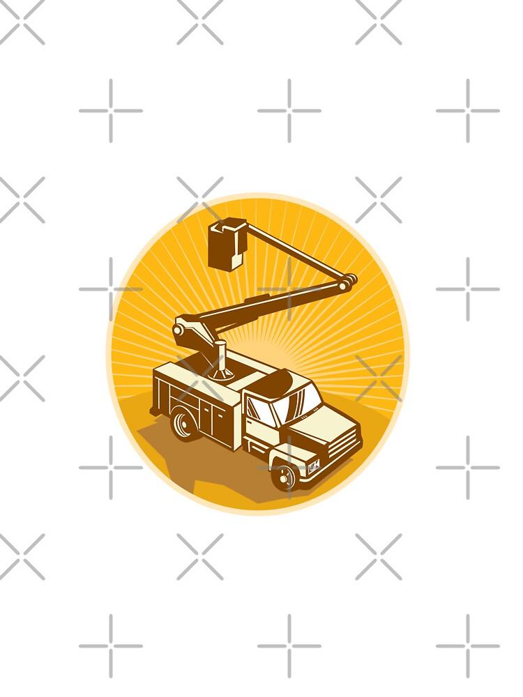 Cherry Picker Bucket Truck Access Equipment Retro by patrimonio