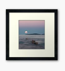 Moon over Montague Framed Print