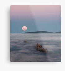 Moon over Montague Metal Print